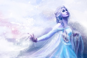 Elsa Frozen Art Wallpaper