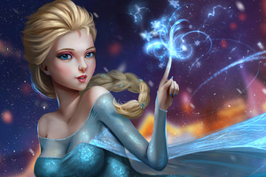 Elsa Frozen Fantastic Art 4k
