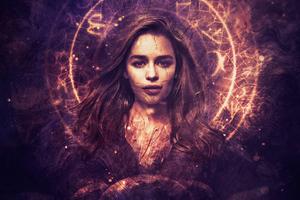 Emilia Clarke As Daenerys Targaryen Art Wallpaper