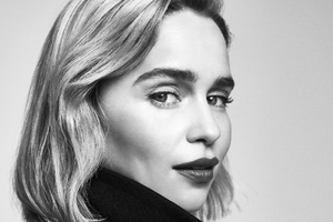 Emilia Clarke Dolce And Gabbana Photoshoot Monochrome 4k Wallpaper