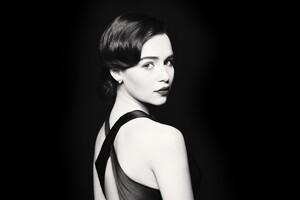 Emilia Clarke Monochrome 4k