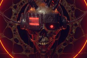 Eminence Dark Echoes Skull Wallpaper
