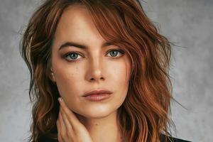 Emma Stone Blonde Hair Grey Eyes 4k Wallpaper