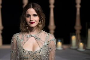 Emma Watson In The Beauty And The Beast Premiere In Shanghai Wallpaper