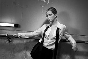 Emma Watson Monochrome 4k 2018