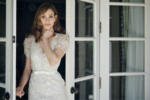 Emmy Rossum In White Dress