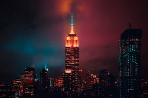 Empire State Building Night 5k Wallpaper