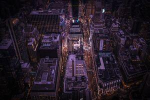 Empire State Building Top View 8k Wallpaper