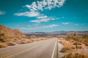 Empty Desert Road 4k