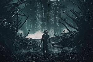 Entering The Dark Space World Wallpaper