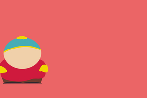 Eric Cartman South Park Minimalism 8k