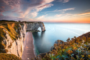 Etretat Normandie France 5k Wallpaper