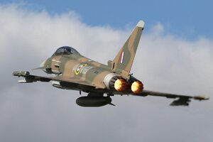 Eurofighter Typhoon Jet Fighter Aircraft Warplane