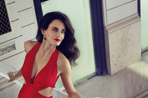 Eva Green Hot In Red 4k Wallpaper