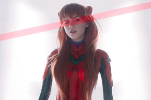 Evangelion Anime Girl Cosplay 4k