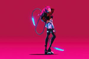 Evelynn Kda Neon 4k Wallpaper