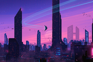 Evening Rush In Scifi City 5k Wallpaper