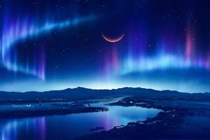 Evening Starry Lights 4k Wallpaper