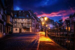 Evening Street Lights