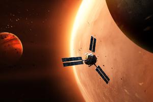 Explorer In Space Wallpaper