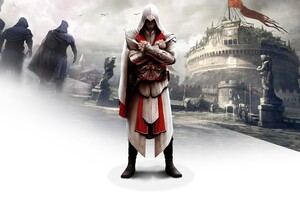 Ezio In Assassins Creed Brotherhood Wallpaper