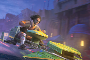 Ezra Bridger A Illustration For Star Wars Destiny Wallpaper