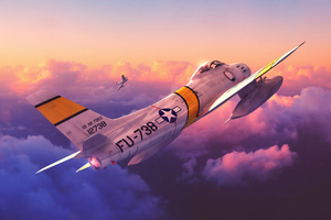 F 86 Sabres Planes Digital Art