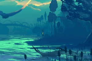 Fabulous Swamps Wallpaper