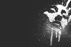 Face Metal Abstract Paint Splatter Wallpaper