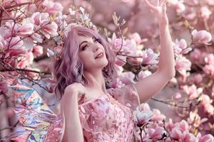 Fairy Girl In Flowers Wallpaper