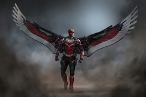 Falcon With Wings 4k Wallpaper