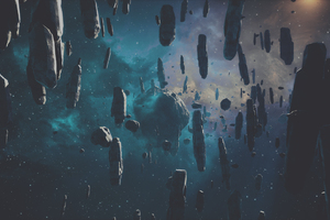 Falling Asteroid