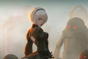 Fan Art Of 2B From Nier Wallpaper