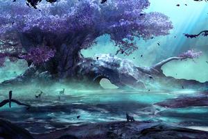 Fantasy Art Creatures Forest 4k Wallpaper