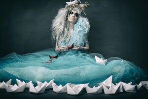 Fantasy Art Women Ships Wallpaper