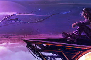 Fantasy Creature Girl Sky