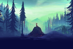Fantasy Fox Landscape Tree
