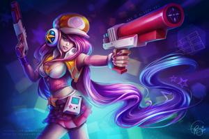 Fantasy Girl With Gun