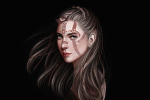 Fantasy Portrait Girl Dark 4k