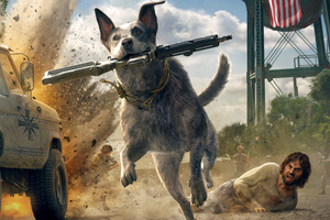 Far Cry 5 Australian Cattle Dog 5k Wallpaper
