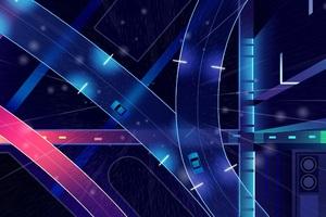 Fast Highway Digital Art Wallpaper