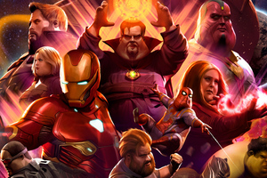 Fat Avengers Infinity War Heroes Wallpaper