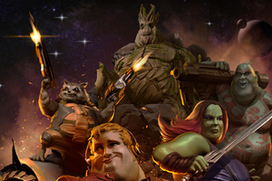 Fat Guardians Of Galaxy Heroes 4k