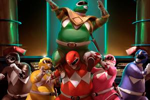 Fat Power Rangers Heroes 4k