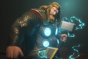 Fat Thor4k Wallpaper