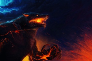 Fenrir Smite Artwork Wallpaper