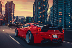 Ferrari 458 City 4k Wallpaper