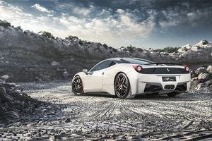 Ferrari 458 Italia White Wallpaper