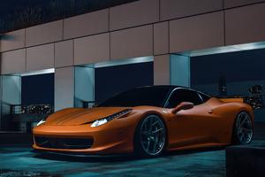 Ferrari 458 Orange 5k Wallpaper