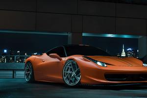 Ferrari 458 Orange Colour 5k Wallpaper